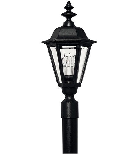 Hinkley Lighting Manor House 1 Light Post Lantern (Post Sold Separately) in Black 1441BK photo
