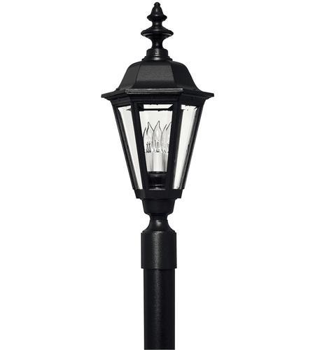 Hinkley Lighting Manor House 1 Light Post Lantern (Post Sold Separately) in Black 1441BK