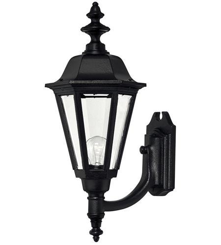 Hinkley Lighting Manor House 1 Light Outdoor Wall Lantern in Black 1449BK