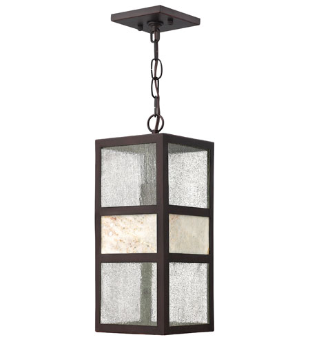 Hinkley 1452SB-GU24 Sierra 1 Light 6 inch Spanish Bronze Outdoor Hanging, Clear Seedy Glass photo