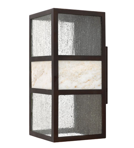 Hinkley 1455SB-GU24 Sierra 1 Light 15 inch Spanish Bronze Outdoor Wall in GU24, Clear Seedy Glass photo