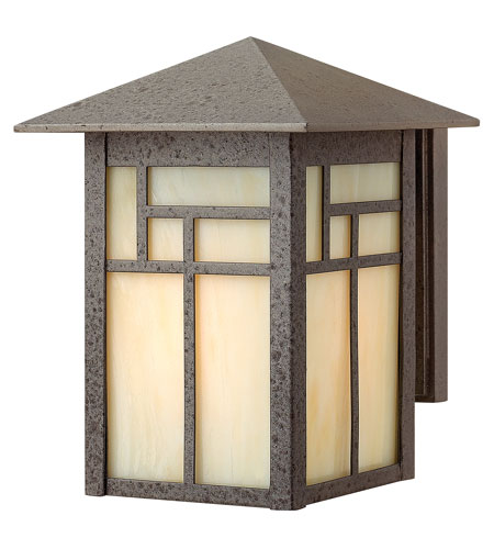 Hinkley Lighting Canyon 1 Light Outdoor Wall Lantern in Forged Iron 1460FI-ES