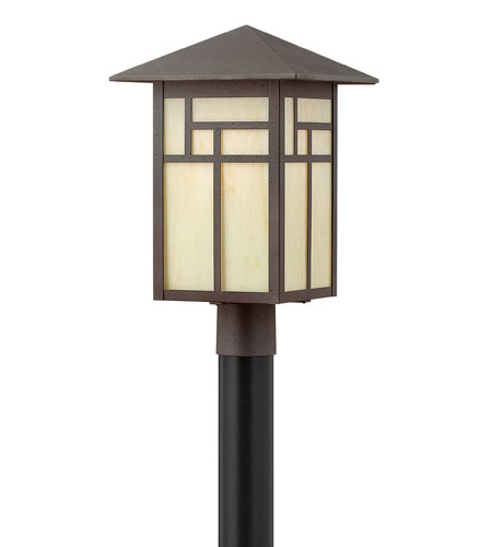 Hinkley Lighting Canyon 1 Light Post Lantern (Post Sold Separately) in Forged Iron 1461FI-ES
