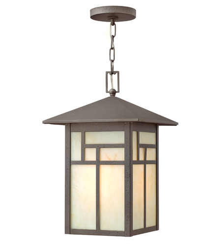 Hinkley Lighting Canyon 1 Light Outdoor Hanging Lantern in Forged Iron 1462FI-LED