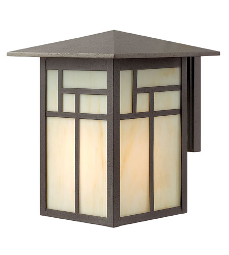 Hinkley Lighting Canyon 1 Light Outdoor Wall Lantern in Forged Iron 1464FI-LED
