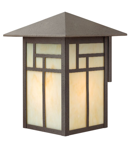 Hinkley Lighting Canyon 1 Light Outdoor Wall Lantern in Forged Iron 1465FI-DS