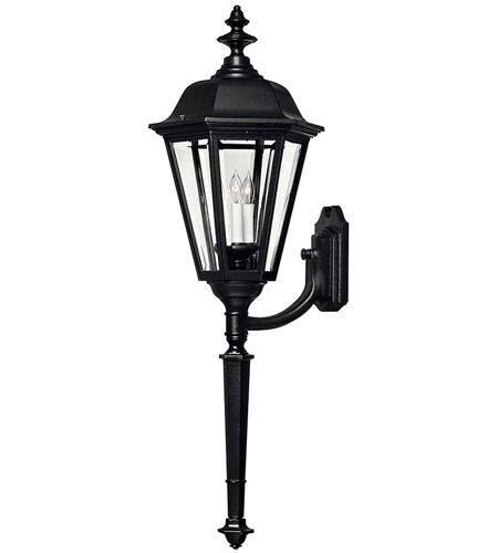Hinkley Lighting Manor House 1 Light Outdoor Wall Lantern in Black 1470BK photo