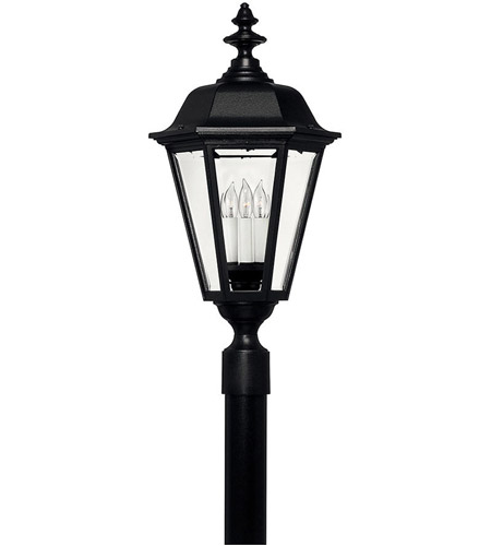 Hinkley 1471BK Manor House 1 Light 28 inch Black Outdoor Post Mount photo