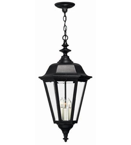 Hinkley Lighting Manor House 3 Light Outdoor Hanging Lantern In Black 1472bk Photo
