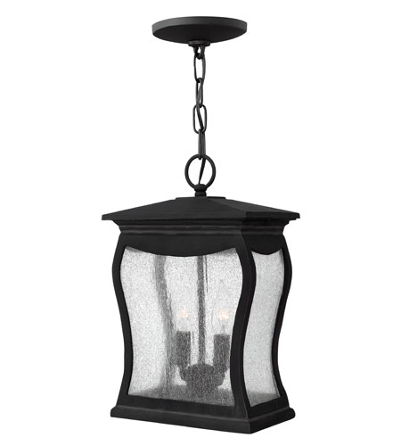 Hinkley Lighting Richmond 2 Light Outdoor Hanging Lantern in Museum Black 1482MB