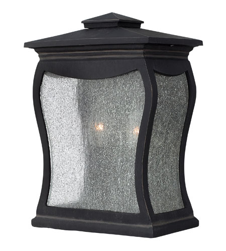 Hinkley Lighting Richmond 2 Light Outdoor Wall Mount in Museum Black 1484MB photo