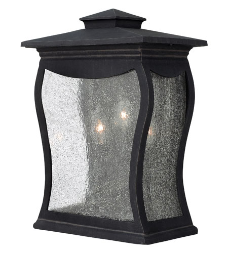 Hinkley Lighting Richmond 3 Light Outdoor Wall Mount in Museum Black 1485MB photo