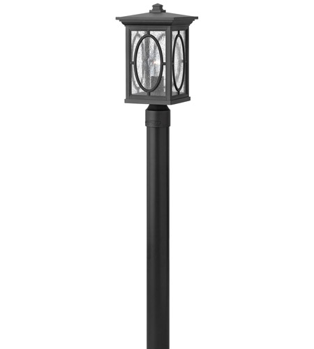 Hinkley Lighting Randolph 1 Light GU24 CFL Post Lantern (Post Sold Separately) in Black 1491BK-GU24