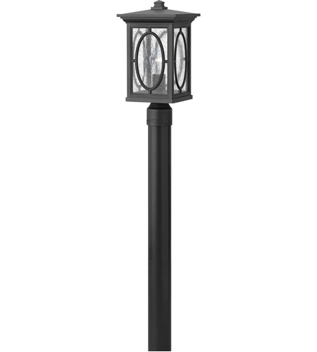 Hinkley 1491BK-LED Randolph 1 Light 16 inch Black Post Lantern in LED, Post Sold Separately photo