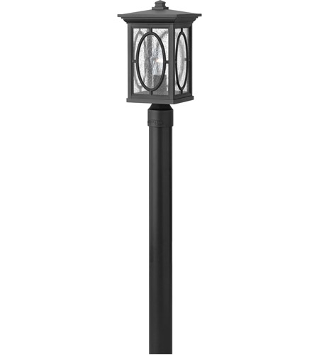 Hinkley 1491BK Randolph 1 Light 16 inch Black Outdoor Post Mount in Incandescent, Post Sold Separately photo