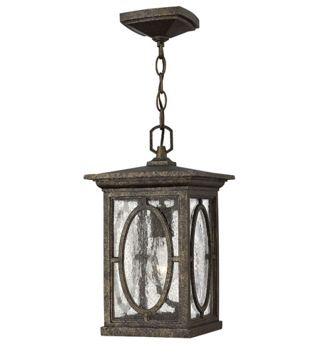 Hinkley Lighting Randolph 1 Light Dark Sky Outdoor Hanging Lantern in Autumn 1492AM-DS