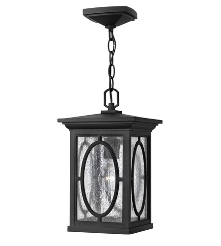 Hinkley Lighting Randolph 1 Light GU24 CFL Outdoor Hanging in Black 1492BK-GU24