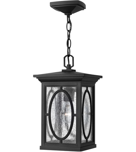 Hinkley Lighting Randolph 1 Light LED Outdoor Hanging in Black 1492BK-LED photo