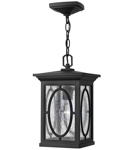 Hinkley 1492BK Randolph 1 Light 8 inch Black Outdoor Hanging in Incandescent photo