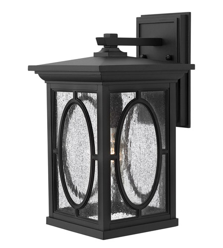 Hinkley Lighting Randolph 1 Light GU24 CFL Outdoor Wall in Black 1494BK-GU24