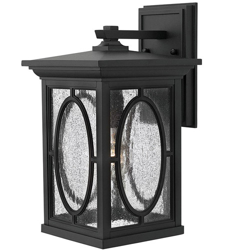 Hinkley 1494BK Randolph 1 Light 15 inch Black Outdoor Wall Mount in Incandescent photo