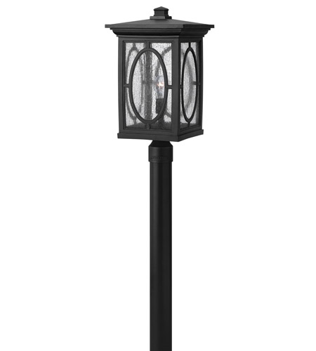 Hinkley Lighting Randolph 1 Light GU24 CFL Post Lantern (Post Sold Separately) in Black 1499BK-GU24