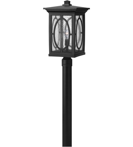 Hinkley Lighting Randolph 1 Light LED Post Lantern (Post Sold Separately) in Black 1499BK-LED