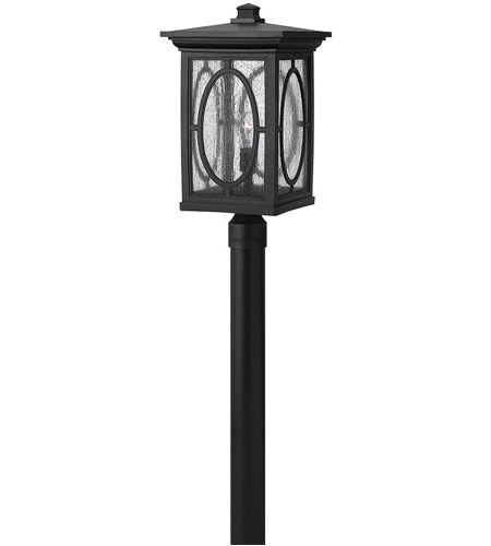 Hinkley Lighting Randolph 1 Light Post Lantern (Post Sold Separately) in Black 1499BK