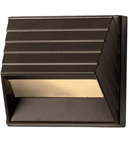 Hinkley 1524BZ Signature 12V 7 watt Bronze Landscape Deck in Incandescent, Square Sconce photo