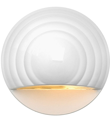 Hinkley 1549MW Signature 12V 7 watt Matte White Deck in Incandescent, Low Volt, Round Eyebrow photo