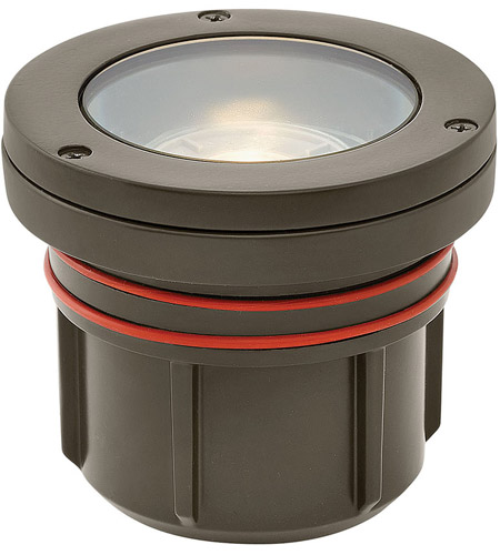 Hinkley 15702BZ-8W3K Signature 12 7.5 watt Bronze Landscape Well Light in 3000K, LED, 8W, Flat Top photo thumbnail
