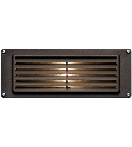Hinkley 1594BZ Signature 12V 12 watt Bronze Landscape Deck in Incandescent, Louvered photo