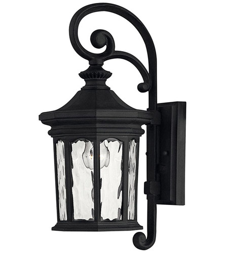 Hinkley 1600MB Raley 1 Light 17 inch Museum Black Outdoor Wall Lantern photo
