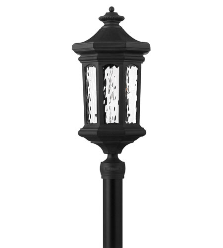 Hinkley Lighting Raley 1 Light Post Lantern (Post Sold Separately) in Museum Black 1601MB-EST