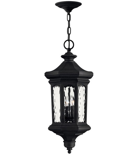 Hinkley Lighting Raley 4 Light Outdoor Hanging Lantern in Museum Black 1602MB