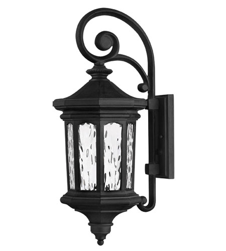 Hinkley Lighting Raley 1 Light Outdoor Wall Lantern in Museum Black 1604MB-ES