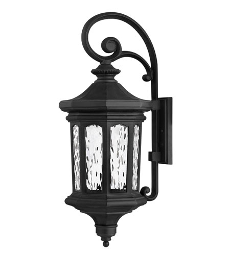 Hinkley Lighting Raley 1 Light Outdoor Wall Lantern in Museum Black 1605MB-EST