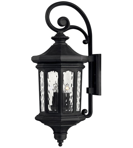 Hinkley Lighting Raley 4 Light Outdoor Wall Lantern in Museum Black 1605MB