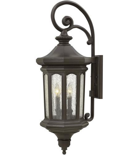 Hinkley Montreal Pedestal Light: Hinkley 1605OZ Raley 4 Light 32 Inch Oil Rubbed Bronze