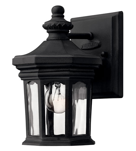 Hinkley Lighting Raley 1 Light LED Outdoor Wall in Museum Black 1606MB-LED
