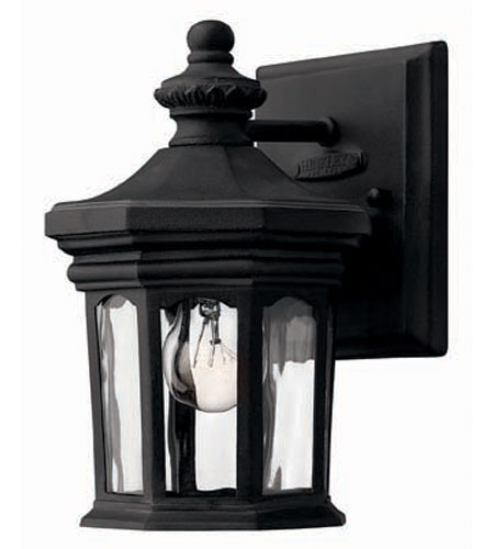 Hinkley Lighting Raley 1 Light Outdoor Wall Lantern in Museum Black 1606MB photo