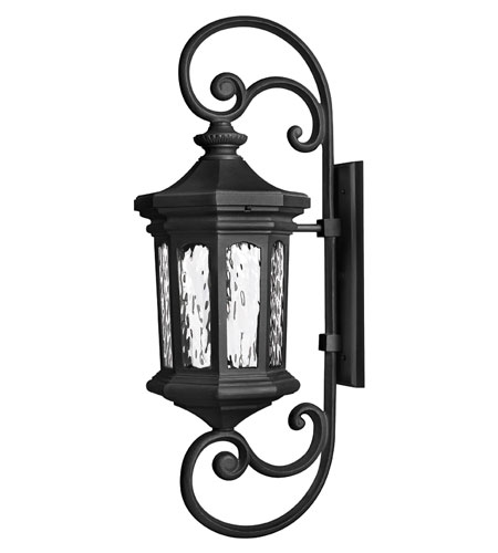 Hinkley Lighting Raley 1 Light Outdoor Wall Lantern in Museum Black 1609MB-ES