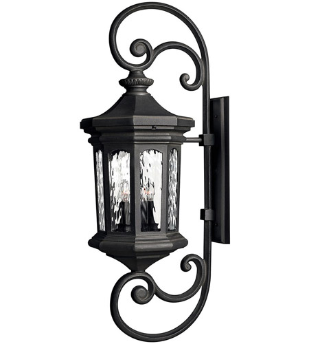 Hinkley 1609MB Raley 4 Light 42 inch Museum Black Outdoor Wall Lantern photo