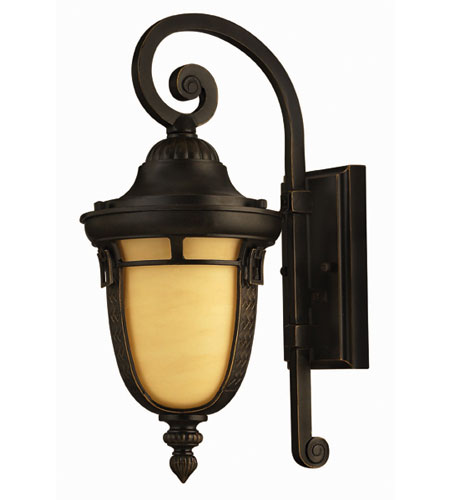 Hinkley Lighting Key West 1 Light Outdoor Wall Lantern in Regency Bronze 1610RB-ES
