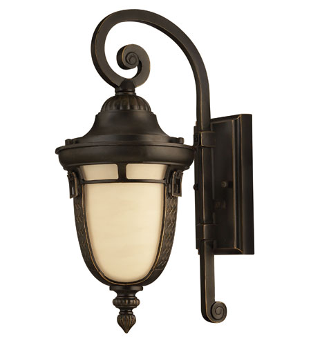 Hinkley Lighting Key West 1 Light GU24 CFL Outdoor Wall in Regency Bronze 1610RB-GU24 photo
