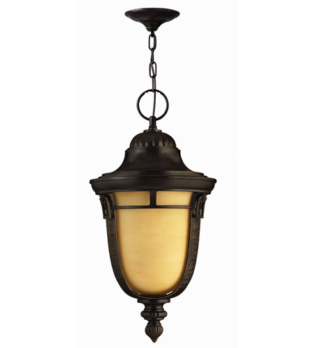 Hinkley Lighting Key West 1 Light Outdoor Hanging Lantern in Regency Bronze 1612RB-ES