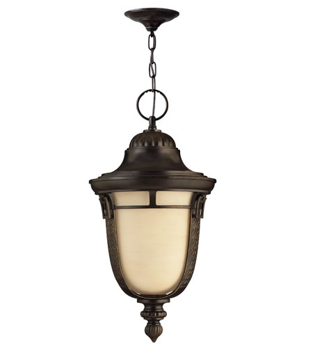Hinkley Lighting Key West 1 Light GU24 CFL Outdoor Hanging in Regency Bronze 1612RB-GU24