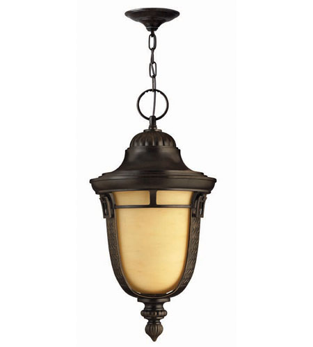 Hinkley Lighting Key West 1 Light Outdoor Hanging Lantern in Regency Bronze 1612RB