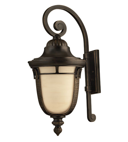 Hinkley Lighting Key West 1 Light GU24 CFL Outdoor Wall in Regency Bronze 1615RB-GU24 photo
