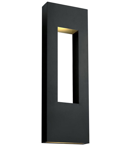 Hinkley 1639SK Atlantis 3 Light 36 inch Satin Black Outdoor Wall Mount in GU10, Etched Lens Glass photo